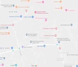 carte d'accès-google map